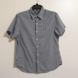 Bonobos Admiral Blue White Checkered Shirt XL